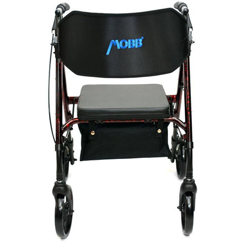 "Mobb Healthcare: Aluminum Rolling Walker 6"" Wheels - MHAR6R - Front View"