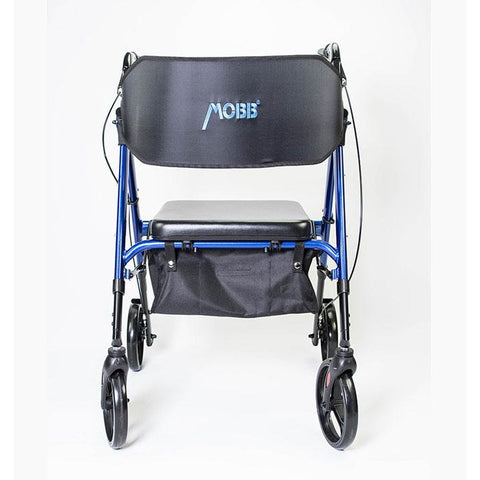 Mobb Healthcare: Ultra Heavy Duty Bariatric Aluminum Rollator with 500 lbs Weight Capacity - MHHRLS - Front View