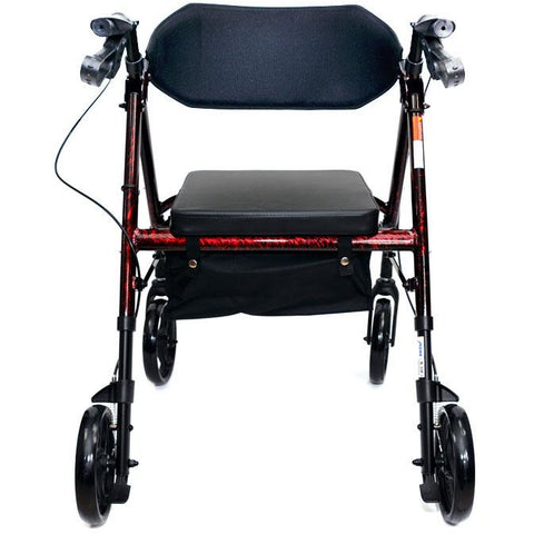 "Mobb Healthcare: Aluminum Rolling Walker 6"" Wheels - MHAR6R - Back View"