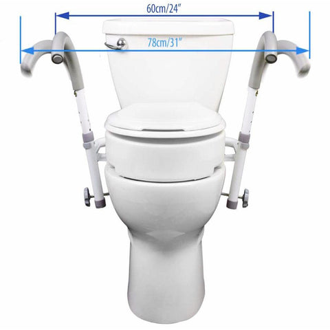 Mobb Healthcare: Ultimate Toilet Safety Frame - MHUTSF - Dimensions Overview
