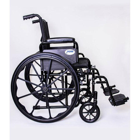 Mobb Healthcare: Deluxe Economy Wheelchair/Steel - MHWC2016 - Side View