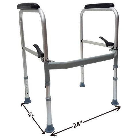 Mobb Healthcare: Folding Toilet Safety Frame - MHFTSF - Dimensions Overview