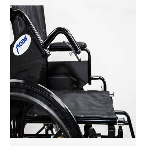 Mobb Healthcare: Deluxe Economy Wheelchair/Steel - MHWC2016 - Removable Arm Rest