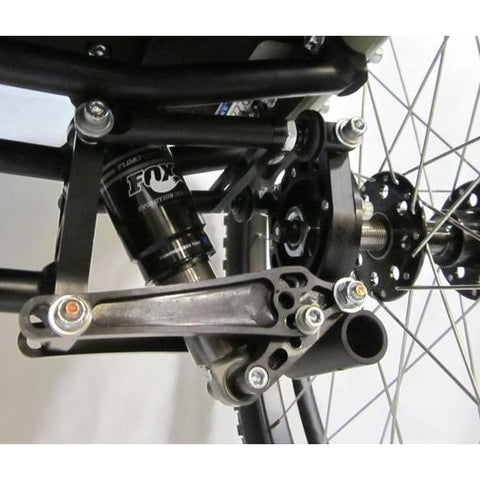 Colours: All Terrain Wheelchair (Razorblade) - Close view of Suspension