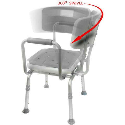 Mobb Healthcare: Swivel Shower Chair 2.0 - MHSCII - Rotating View