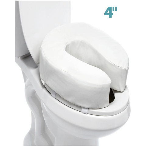 "Mobb Healthcare: Padded Raised Toilet Seat: 4"" - MHTR"