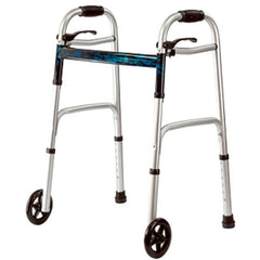 "Mobb Healthcare: Deluxe Junior Folding Walker w/5"" Wheels - MHJFW"
