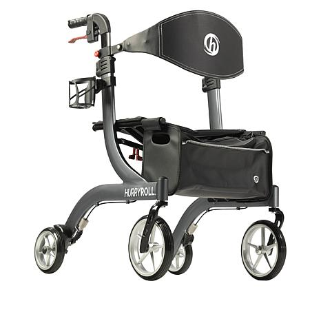 Mobb Healthcare: HurryRoll Rollator Rolling Walker By HurryCane - Black Color