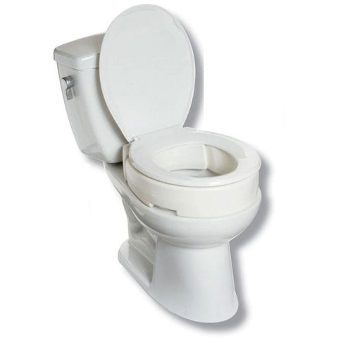 "Mobb Healthcare: 4"" Hinged Raised Toilet Seat Regular - MHHRT"