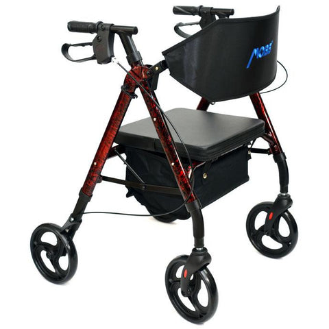 "Mobb Healthcare: Aluminum Rolling Walker 6"" Wheels - MHAR6R"