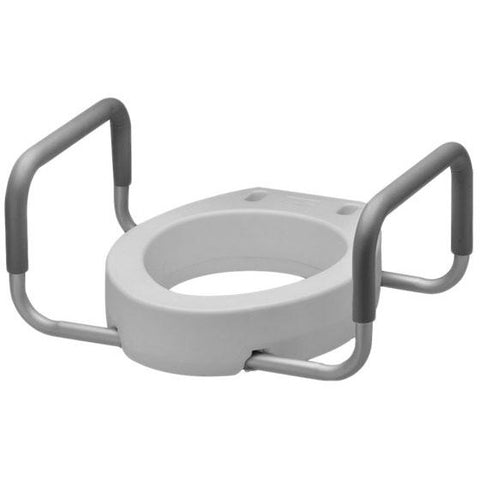 Mobb Healthcare: 4 inch Raised Toilet Seat with Arms Regular - MHRTSA