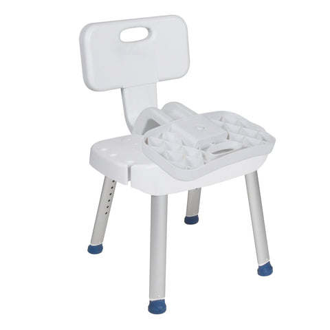 Bathroom Safety Shower Chair with Folding Back - RTL12606