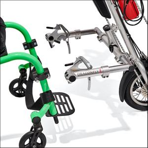 Rio Mobility: Dragonfly 2.0 Manual Handcycle - Dragonfly (100-D)e - Hook locking View