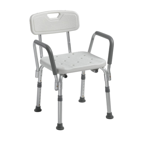 Knock Down Bath Bench with Back and Padded Arms - 12445KD-1