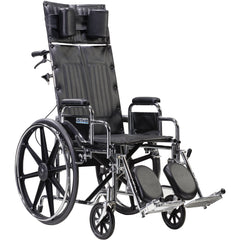 "Sentra Reclining Wheelchair, Detachable Desk Arms, 22"" Seat - STD22RBDDA"