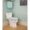 Image of Bemis Independence: Clean Shield Elevated Toilet Seat - Seat Cover Closed