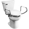 Image of Bemis Independence: Clean Shield Elevated Toilet Seat - Elevated Seat With Supporting Arms