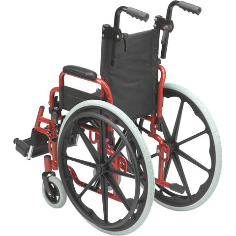 "Wallaby Pediatric Folding Wheelchair, 12"", Fire Truck Red - WB1200-2GFR"