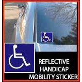 "See and Be Safe: Handicap Sticker 4"" x 4"" - 20234 - Actual Photo"