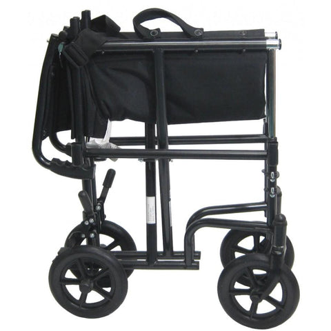 Karman Healthcare:  Transport Wheelchairs – T-2700 folded