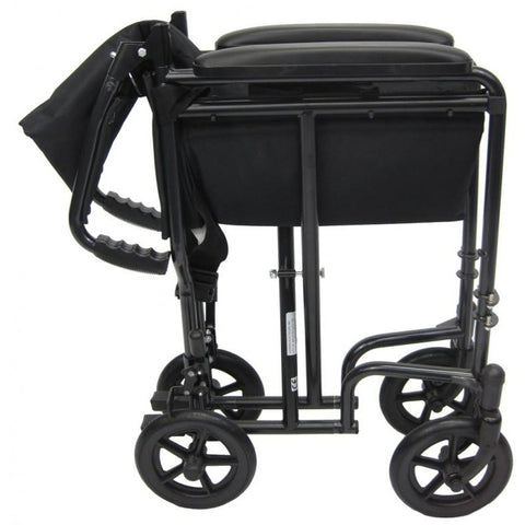 Karman Healthcare: LT-2017 & LT-2019 Lightweight Transporter Aluminum Wheelchair – LT-2000 folded