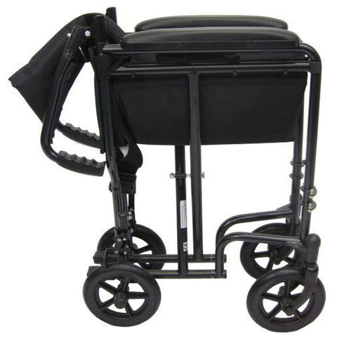 Karman Healthcare: T-2017 & T-2019  Lightweight Compact  Transport Wheelchairs – T-2000 folded