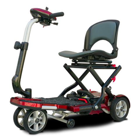 EV Rider: Transport Plus  Transportable Foldable scooter - S19+ TranSport Red Side