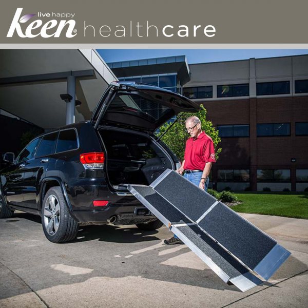 Keen Healthcare: Ez-Access Suitcase® Trifold As Ramp 8′ x 29.5″ 800lb Cap - EFFEZTRAS8 - Adjust With Car