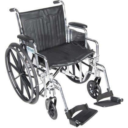 Chrome Sport Wheelchair, Detachable Desk Arms, Swing away Footrests, 18