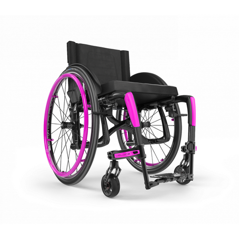 Motion Composites: Folding Wheelchairs Veloce - VEL1 - Fuchsia Color