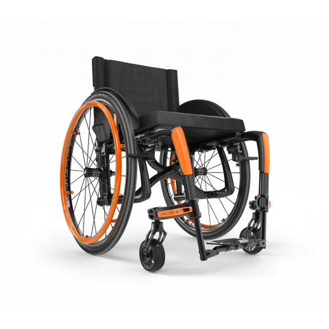 Motion Composites: Folding Wheelchairs Veloce - VEL1 - Sunkissed Orange Color