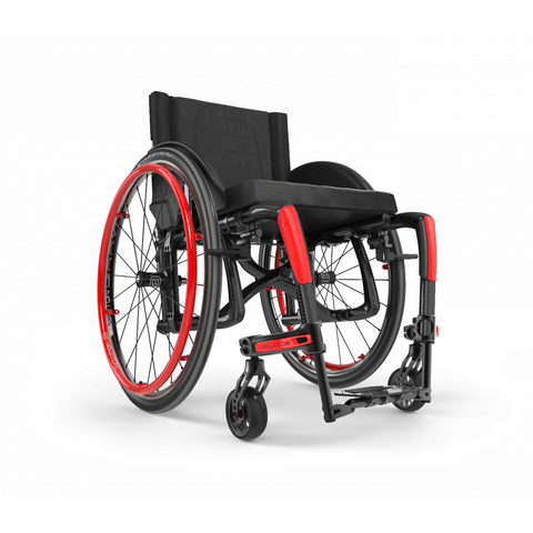 Motion Composites: Folding Wheelchairs Veloce - VEL1 - Ferrari Red Color