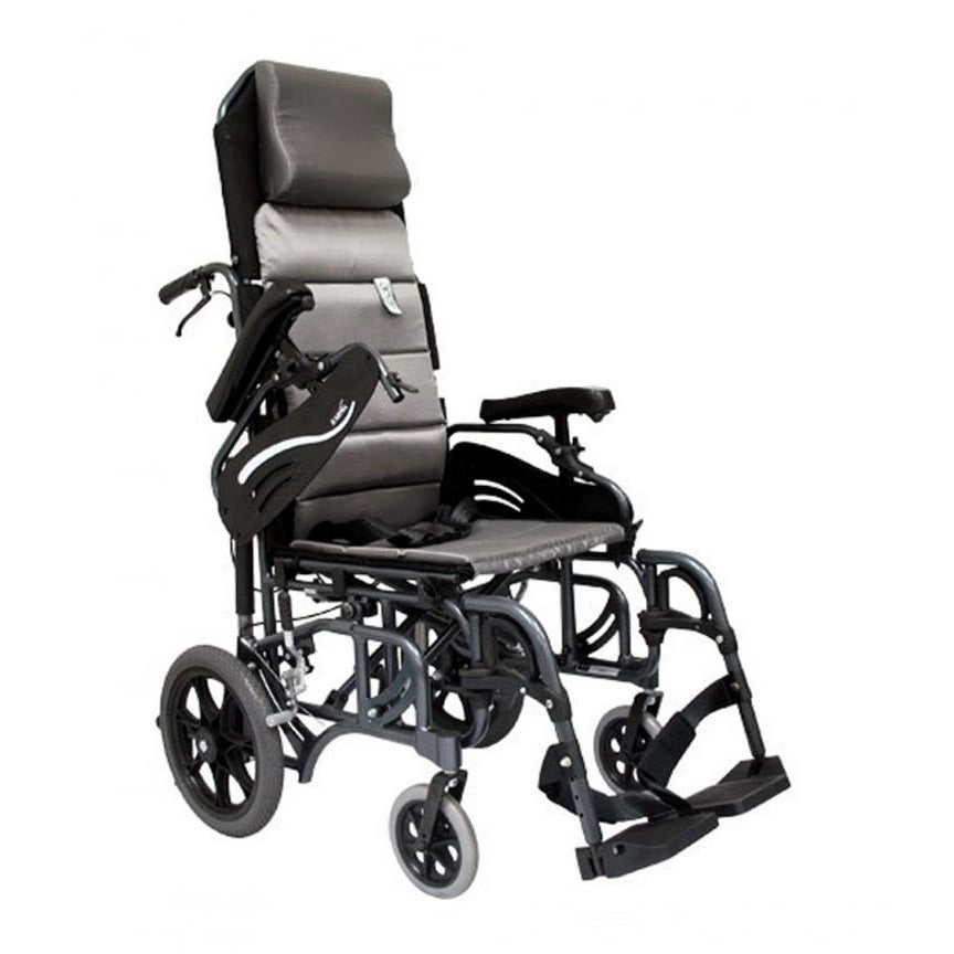 Karman Healthcare :Tilt-in-Space Transport Wheelchairs – VIP-515-TP Front View