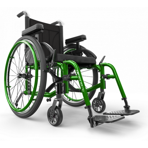 Motion Composites: Folding Wheelchairs Helio A6 - Monster Green Color