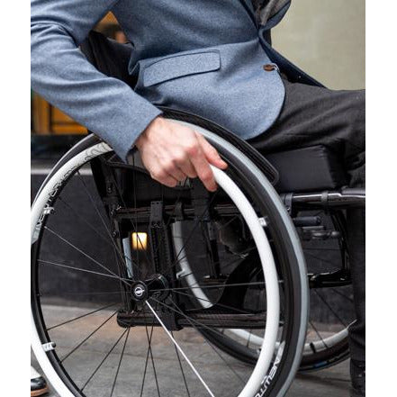 Motion Composites: Folding Wheelchairs Veloce - VEL1 -Wheel Grip View