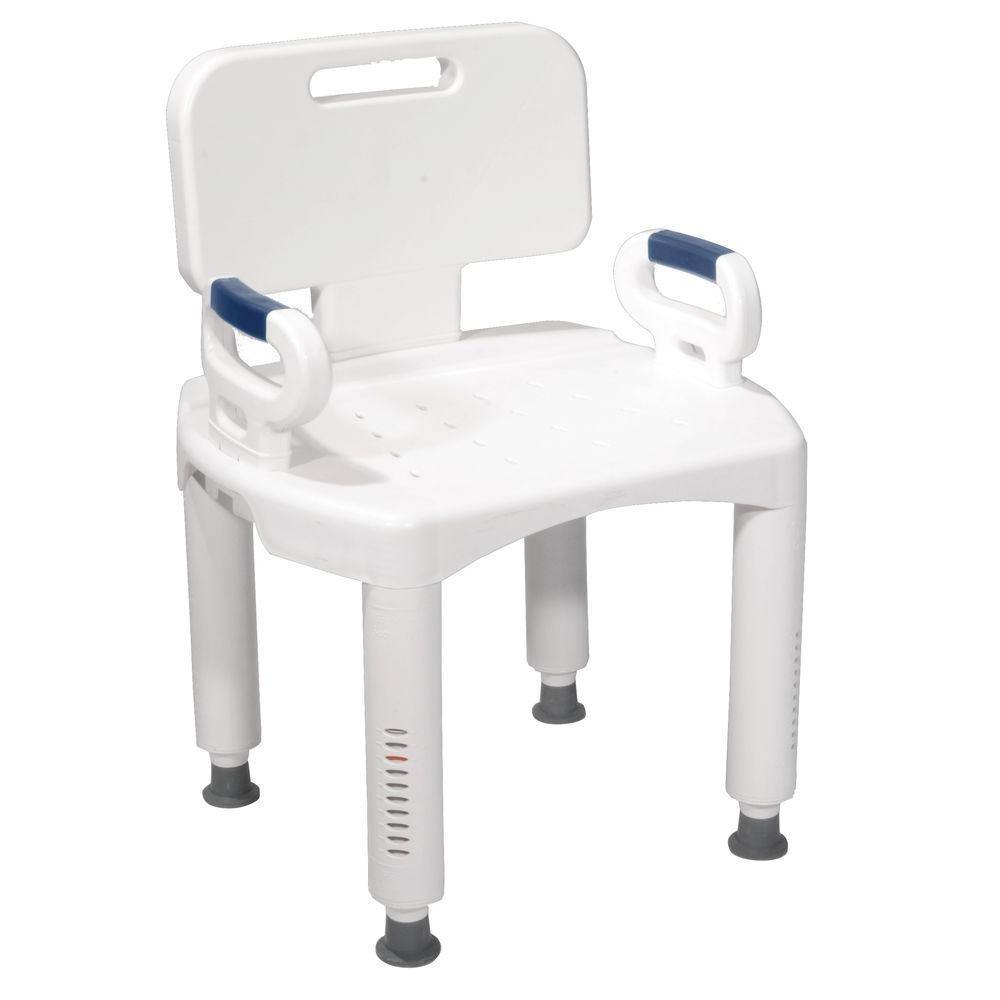 Drive: Premium Bath Bench with Back and Arms