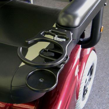 Snap It Products: Combination of Cell Phone/Drink Holder for Power Wheelchair - W0014A - Side View