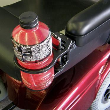 Snap It Products: Combination of Cell Phone/Drink Holder for Power Wheelchair - W0014A - Bottle View