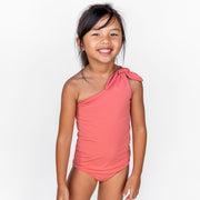 Girl's Asymmetrical One Piece | Sunset Blush
