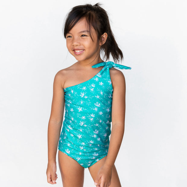 Girl's Asymmetrical One Piece | Ocean Blossom