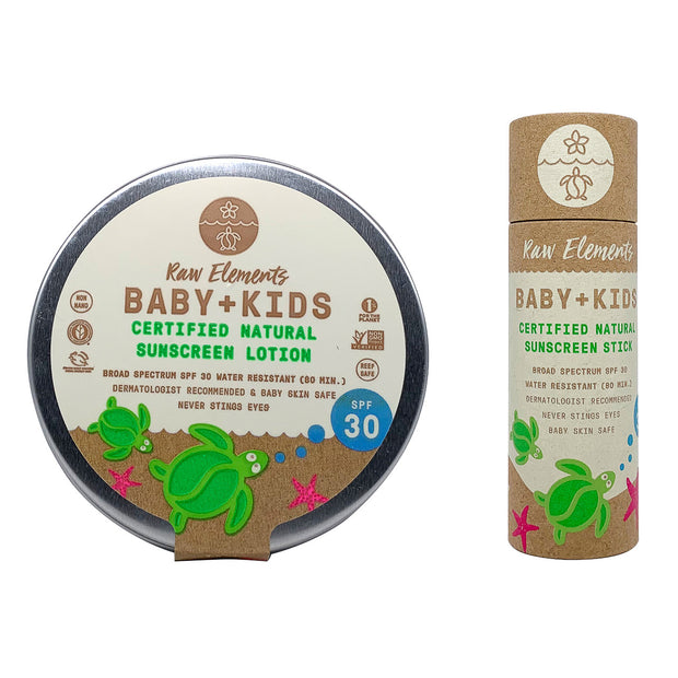 Baby Kids natural sunscreen eco-friendly and sustainable