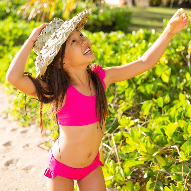 eco friendly girls swimwear in pink