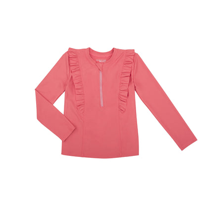 Chloe Long Sleeve Rashguard Top | Sunset Blush