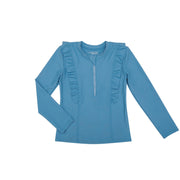 Chloe Long sleeve Rashguard Top | Blue Sky