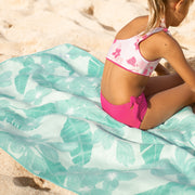 Eco-friendly beach towel.