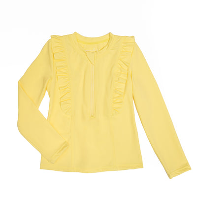 Chloe Long Sleeve Rashguard | Lemon Squeeze