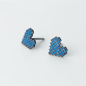 Pixelated Love - Sterling Silver