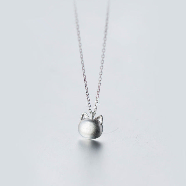 Mr. Meow Necklace - Sterling Silver