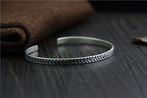 Leaf Carved - Thai Silver Cuff