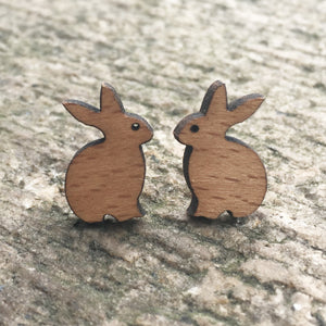 Handmade Wooden Bunnies